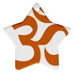 Hindu Om Symbol (chocolate Brown) Ornament (star) by abbeyz71