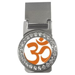 Hindu Om Symbol (chocolate Brown) Money Clips (cz)  by abbeyz71