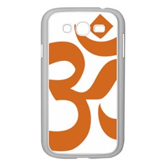 Hindu Om Symbol (chocolate Brown) Samsung Galaxy Grand Duos I9082 Case (white) by abbeyz71