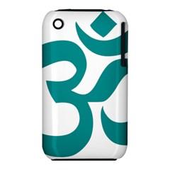 Hindu Om Symbol (dark Cyan) Iphone 3s/3gs by abbeyz71