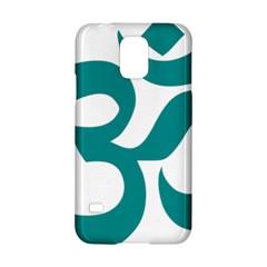 Hindu Om Symbol (dark Cyan) Samsung Galaxy S5 Hardshell Case  by abbeyz71