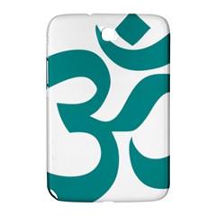 Hindu Om Symbol (dark Cyan) Samsung Galaxy Note 8 0 N5100 Hardshell Case  by abbeyz71