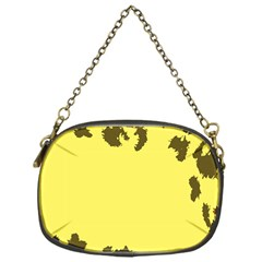 Banner Polkadot Yellow Grey Spot Chain Purses (one Side)  by Mariart