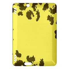 Banner Polkadot Yellow Grey Spot Kindle Fire Hdx Hardshell Case by Mariart