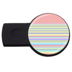 All Ratios Color Rainbow Pink Yellow Blue Green Usb Flash Drive Round (2 Gb) by Mariart