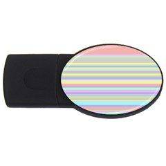 All Ratios Color Rainbow Pink Yellow Blue Green Usb Flash Drive Oval (2 Gb) by Mariart