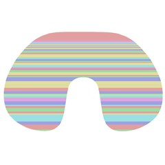 All Ratios Color Rainbow Pink Yellow Blue Green Travel Neck Pillows by Mariart