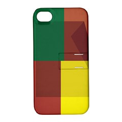 Albers Out Plaid Green Pink Yellow Red Line Apple Iphone 4/4s Hardshell Case With Stand by Mariart