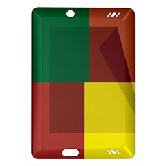 Albers Out Plaid Green Pink Yellow Red Line Amazon Kindle Fire Hd (2013) Hardshell Case by Mariart