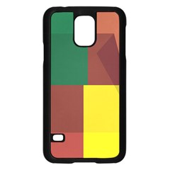 Albers Out Plaid Green Pink Yellow Red Line Samsung Galaxy S5 Case (black) by Mariart