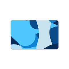 Blue Polka Magnet (name Card) by Mariart