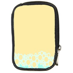 Bubbles Yellow Blue White Polka Compact Camera Cases by Mariart