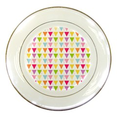Bunting Triangle Color Rainbow Porcelain Plates by Mariart