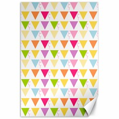 Bunting Triangle Color Rainbow Canvas 20  X 30   by Mariart