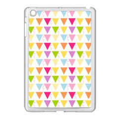 Bunting Triangle Color Rainbow Apple Ipad Mini Case (white) by Mariart