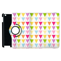 Bunting Triangle Color Rainbow Apple Ipad 3/4 Flip 360 Case by Mariart