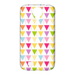 Bunting Triangle Color Rainbow Samsung Galaxy S4 Classic Hardshell Case (pc+silicone) by Mariart
