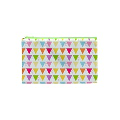 Bunting Triangle Color Rainbow Cosmetic Bag (xs) by Mariart