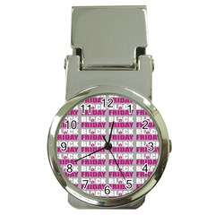 Black Friday Sale White Pink Disc Money Clip Watches by Mariart