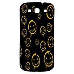 Face Smile Bored Mask Yellow Black Samsung Galaxy S3 S Iii Classic Hardshell Back Case by Mariart