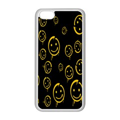 Face Smile Bored Mask Yellow Black Apple Iphone 5c Seamless Case (white) by Mariart