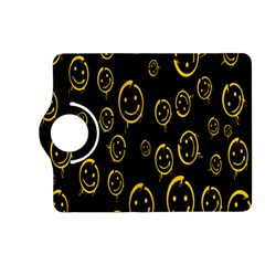 Face Smile Bored Mask Yellow Black Kindle Fire Hd (2013) Flip 360 Case by Mariart