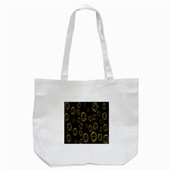 Face Smile Bored Mask Yellow Black Tote Bag (white) by Mariart