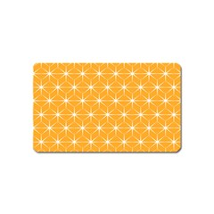 Yellow Stars Iso Line White Magnet (name Card) by Mariart