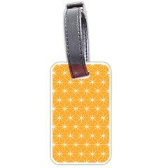 Yellow Stars Iso Line White Luggage Tags (two Sides) by Mariart