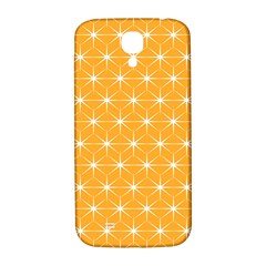 Yellow Stars Iso Line White Samsung Galaxy S4 I9500/i9505  Hardshell Back Case by Mariart