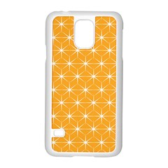Yellow Stars Iso Line White Samsung Galaxy S5 Case (white) by Mariart