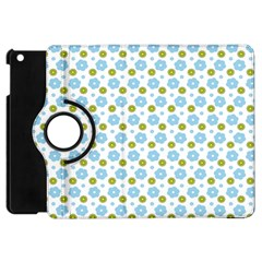 Blue Yellow Star Sunflower Flower Floral Apple Ipad Mini Flip 360 Case by Mariart