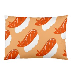 Fish Eat Japanese Sushi Pillow Case (two Sides) by Mariart