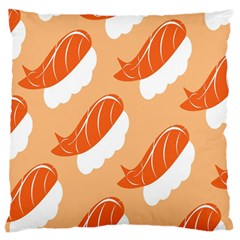 Fish Eat Japanese Sushi Standard Flano Cushion Case (two Sides) by Mariart