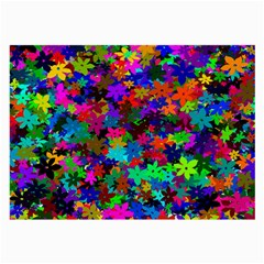 Flowersfloral Star Rainbow Large Glasses Cloth by Mariart