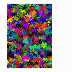 Flowersfloral Star Rainbow Small Garden Flag (two Sides) by Mariart