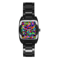 Flowersfloral Star Rainbow Stainless Steel Barrel Watch by Mariart