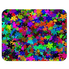 Flowersfloral Star Rainbow Double Sided Flano Blanket (medium)  by Mariart