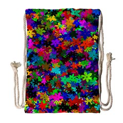 Flowersfloral Star Rainbow Drawstring Bag (large) by Mariart
