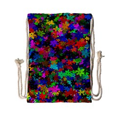 Flowersfloral Star Rainbow Drawstring Bag (small) by Mariart