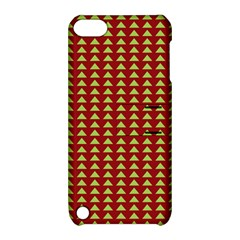 Hawthorn Sharkstooth Triangle Green Red Apple Ipod Touch 5 Hardshell Case With Stand by Mariart