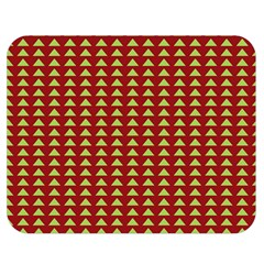 Hawthorn Sharkstooth Triangle Green Red Double Sided Flano Blanket (medium)  by Mariart