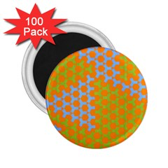 Green Blue Orange 2 25  Magnets (100 Pack)  by Mariart