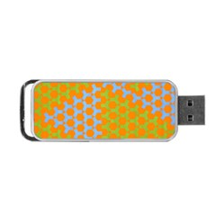 Green Blue Orange Portable Usb Flash (one Side) by Mariart