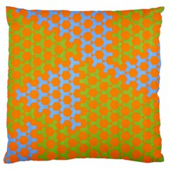 Green Blue Orange Standard Flano Cushion Case (one Side) by Mariart