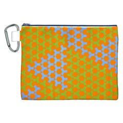 Green Blue Orange Canvas Cosmetic Bag (xxl) by Mariart
