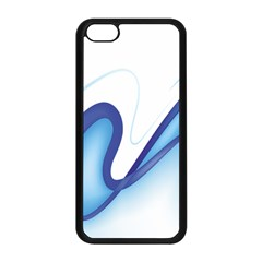 Glittering Abstract Lines Blue Wave Chefron Apple Iphone 5c Seamless Case (black) by Mariart