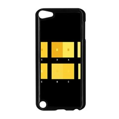 Horizontal Color Scheme Plaid Black Yellow Apple Ipod Touch 5 Case (black) by Mariart