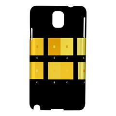 Horizontal Color Scheme Plaid Black Yellow Samsung Galaxy Note 3 N9005 Hardshell Case by Mariart