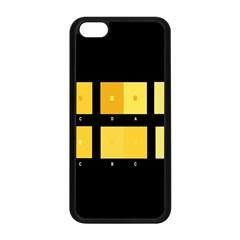 Horizontal Color Scheme Plaid Black Yellow Apple Iphone 5c Seamless Case (black) by Mariart